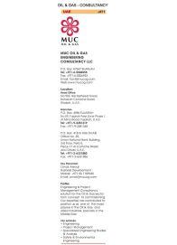 MUC Oil & Gas Engineering Consultancy L.L.C.