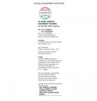 Al Hana OilField Equipment Trading (An ISO 9001-2008 Company)