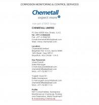 Chemetall PLC - P O Box 43539, Abu Dhabi, United Arab