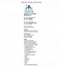 Material Lab Testing Services LLC - Abu Dhabi - P O Box 61831