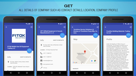 Oil and Gas Directory - Middle East Android Application