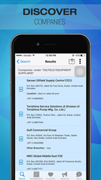 Oil and Gas Directory - Middle East iOS Application